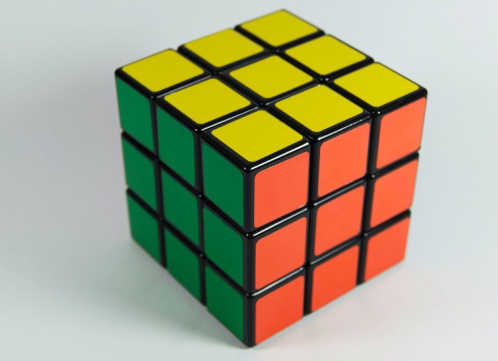 A solved Rubik's Cube
